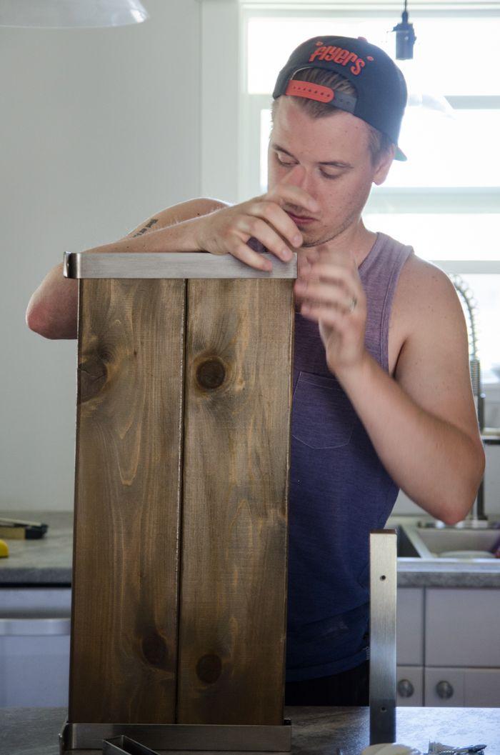 Ikea Hack! DIY Open Shelving- one piece of cedar fence board cut into two foot lengths