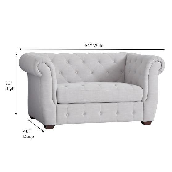Chesterfield Chair + Half Sleeper | PBteen
