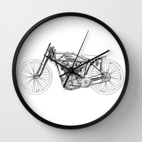 "Vintage Harley Davidson Clock, Harley Davidson Clock, Modern Clock, The Harley Davidson Clock, Muppet clock, Harley Davidson Shop Clock by STANLEYprintHOUSE  47.00 USD  Available in natural wood, black or white frames, our 10"" diameter unique Wall Clocks feature a high-impact plexiglass crystal face and a backside hook for easy hanging. Choose black or white hands to match your wall clock frame and art design choice. Clock sits 1.75"" deep and requi ..  https://www.etsy.com/ca/listi.."