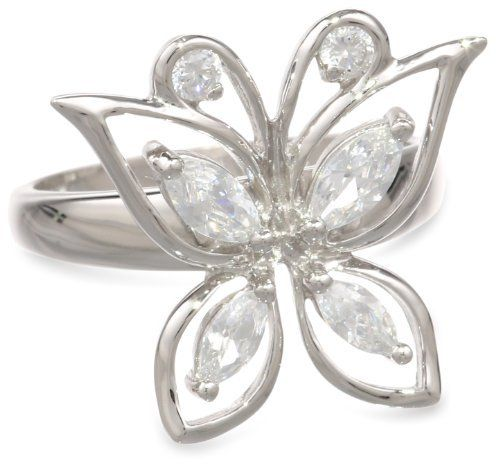 Sterling Silver Simulated Diamond Butterfly Ring Amazon Curated Collection. $29.00. The natural properties and composition of mined gemstones define the unique beauty of each piece. The image may show slight differences to the actual stone in color and texture.