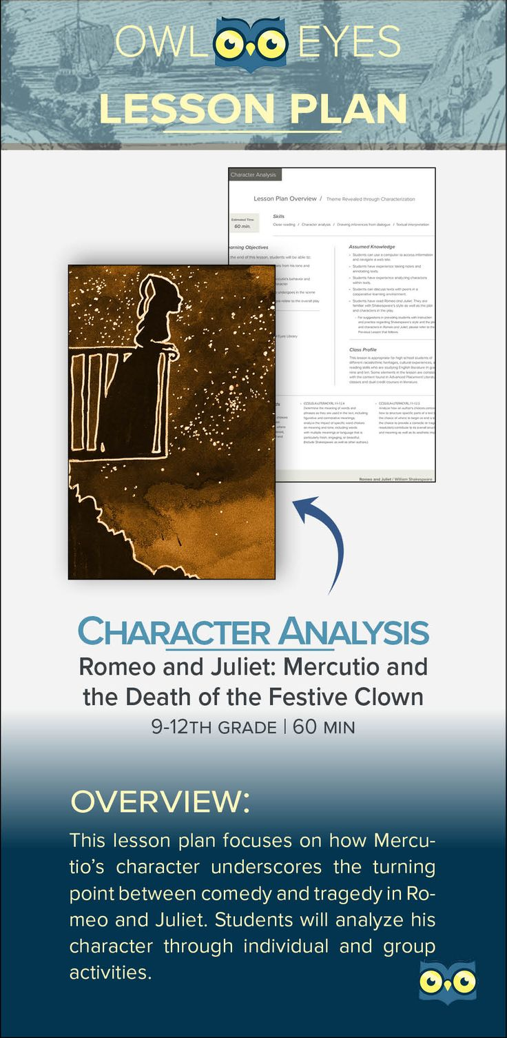 a character analysis on romeo juliet In act iii, scene 1, the prince appears when his night's sleep is disturbed by the deaths of mercutio and tybalt when he learns how the deaths have occurred, he gives his judgment of exile for romeo.