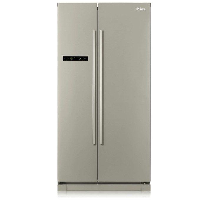 Luxury Samsung RSASHPN L American Freestanding Fridge Freezer Platinum Inox Stainless Steel