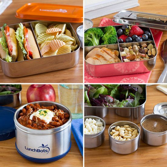 LunchBots.  Great storage containers for kids lunches