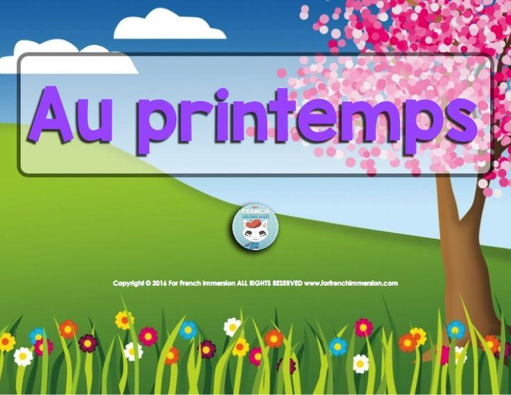 Au Printemps - French spring easy reading