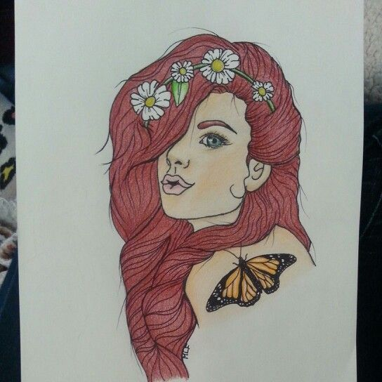 Hipster. Tattoo idea. Drawing. Hippie. Hippie girl. Hipster girl by mackenzie frenze