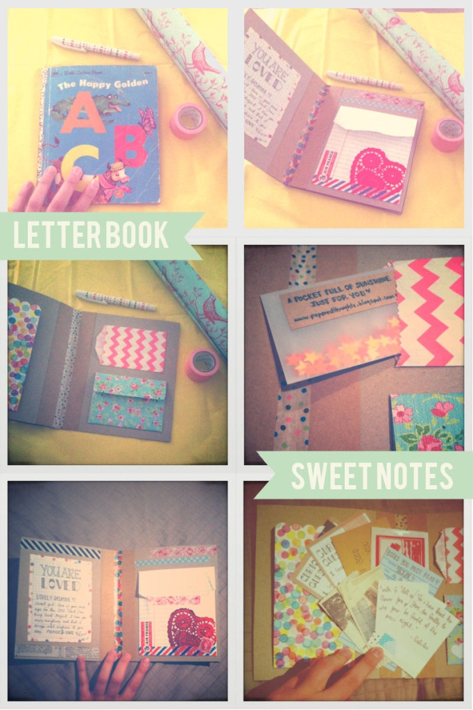 paperedthoughts: Send Something Good - turn an old book into a letterbook!