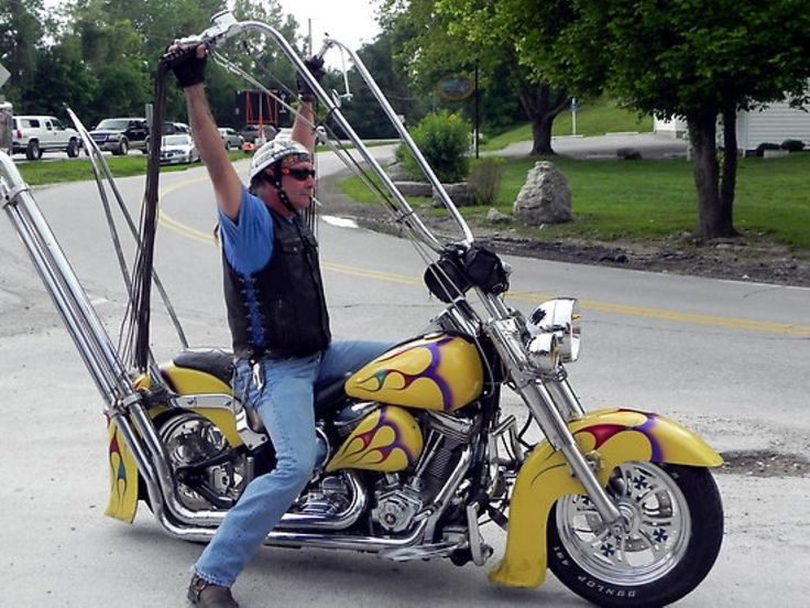 Notice the rider on his Harley Road Glide with the ape hanger type handlebars. Description from wn.com. I searched for this on bing.com/images