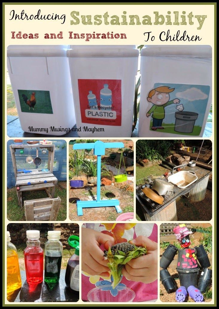 Introducing sustainability practices to toddlers and preschoolers...see more at Mummy Musings and http://Mayhem.com