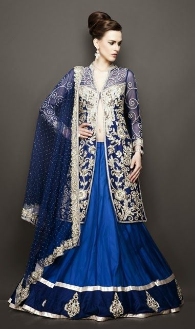 New Lehenga Choli Saree Designs Style Saree Choli Designs For Kids Online Wedding Pictures 2013-2014: Antique Bridal Lehngas 2014-2015
