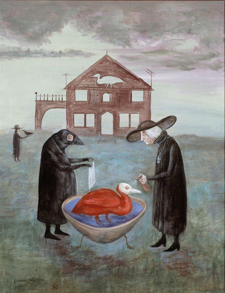 """""""El baño del pájaro"""" por Leonora Carrington, 1978."""