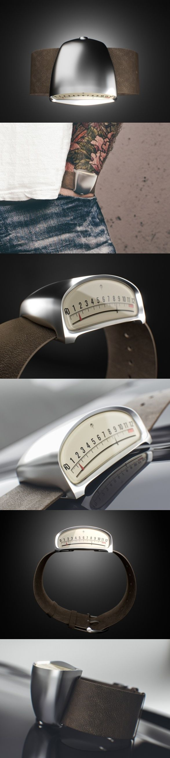 The Drive watch. The design takes inspiration from vintage models from a time when cars were considered not just transportation but art.
