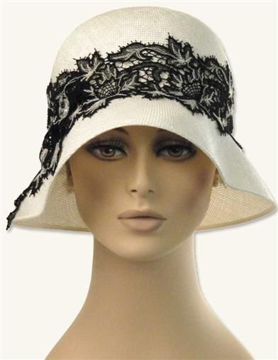 LOUISE GREEN CHANTILLY LACE CLOCHE >> Victorian Trading Co >> $229.95