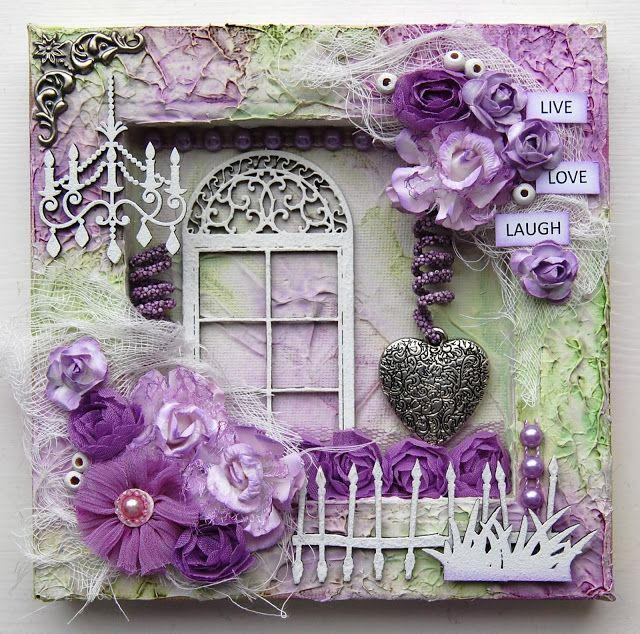 Ingrid's place: reversed mixed media canvas