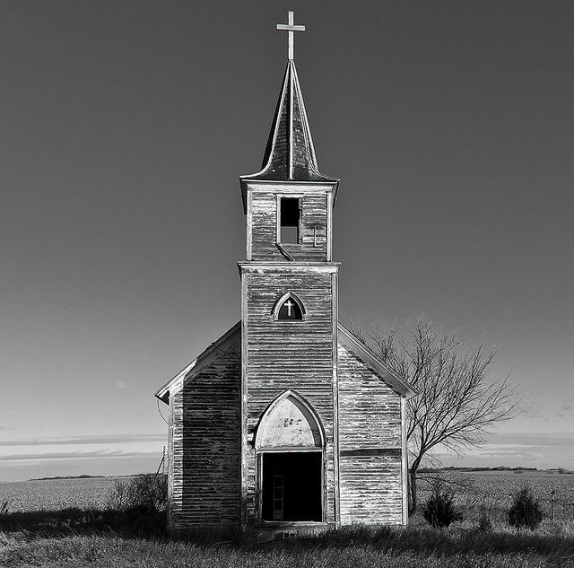 I Saw Several Abandoned Churches In Nebraska And Never Got