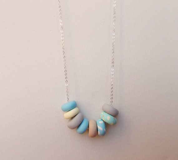 Handcrafted polymer clay necklace in Skyscraper, by craft & folk  https://www.etsy.com/ie/listing/219489925/skyscraper-handmade-polymer-clay?ref=shop_home_active_2