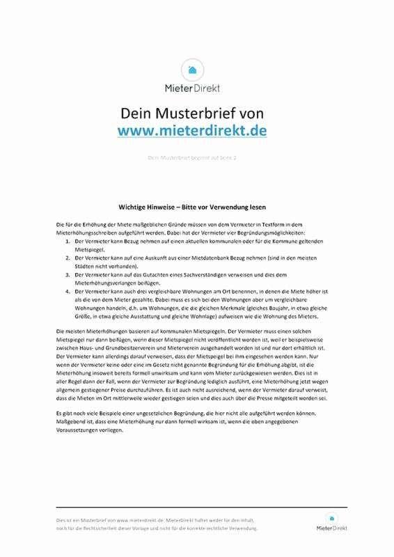 Mieterhohung Vorlage Mietspiegel Vorlagen Mieterhohung Offizieller Brief