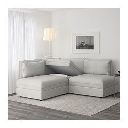 VALLENTUNA Sectional, 2-seat, Orrsta light gray - Orrsta light gray - IKEA