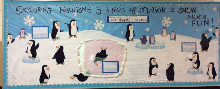 Newton S 3 Laws Of Motion Bulletin Board I Created