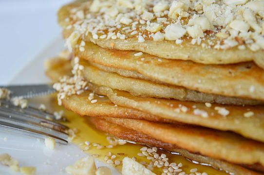 Recipe for homemade ancient Greek pancakes. In Ancient Greece they were called Tagenites or Attanitai and were often prepared for breakfast early in the morning.
