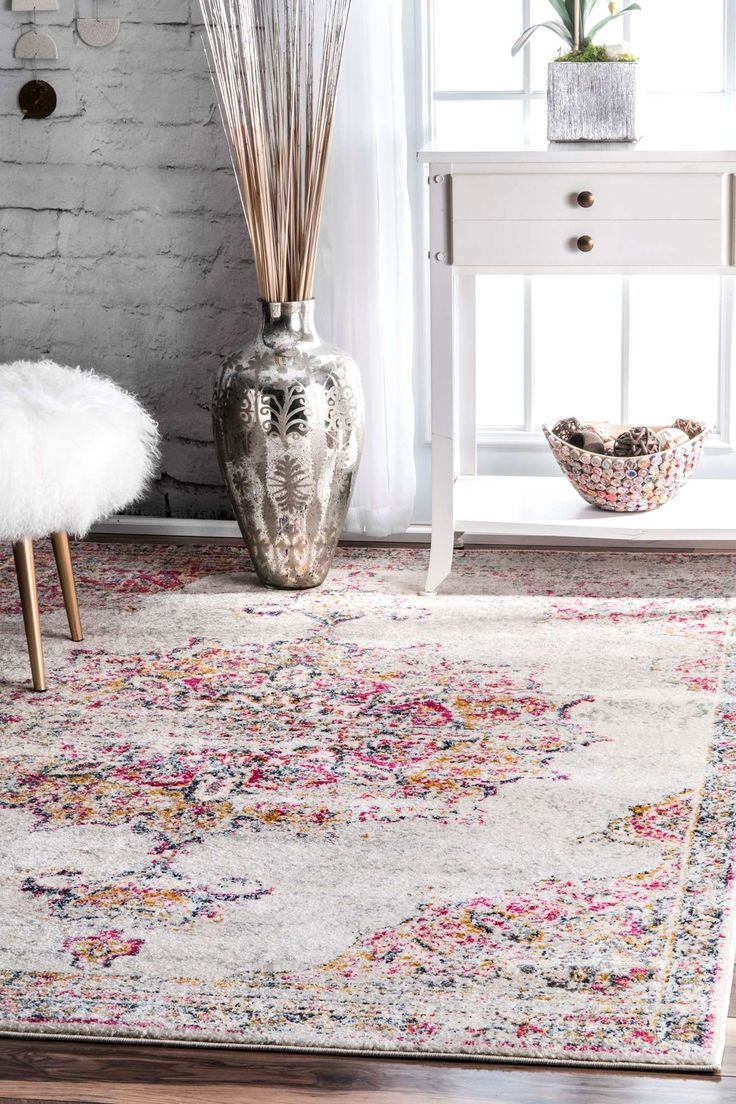 Bosphorusbd36 Sunny Wildflower Medallion Rug