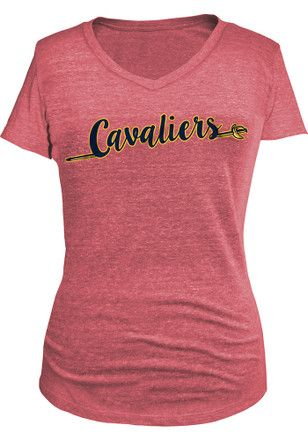 Cleveland Cavaliers Womens Maroon Tri-blend T-Shirt