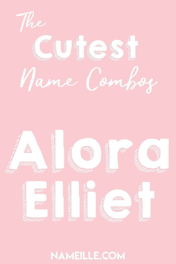 cute first middle name combinations baby names pinterest