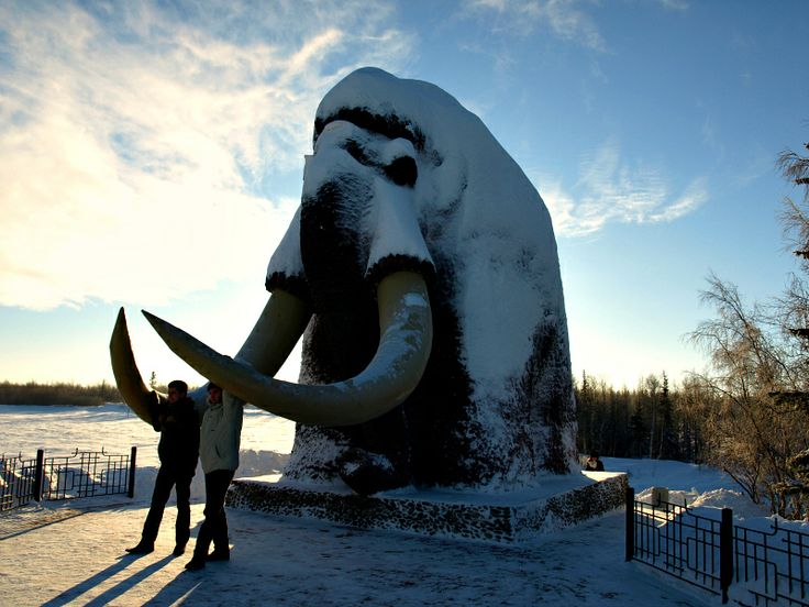 Salekhard - a City in the Russian North on the Polar Circle, Mammoth Statue