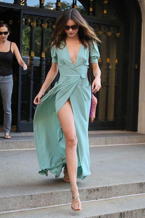 Miranda Kerr in a Beautiful Teal Dress ~ Glamouria in Fashion