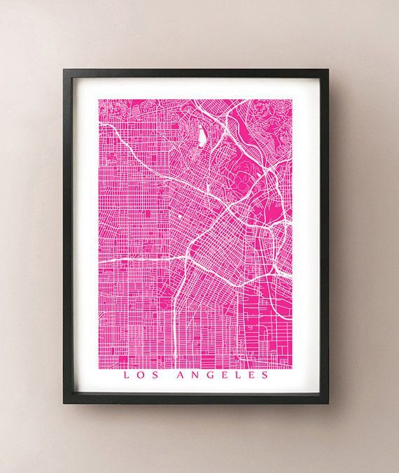 Los Angeles Map Art  LA California Poster Print   door CartoCreative, $20.00 https://www.etsy.com/listing/164256262/los-angeles-map-art-la-california-poster?ref=shop_home_active_5&ga_search_query=los%2Bangeles