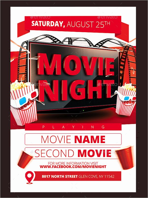 Free Movie Night Flyer Template Beautiful 52 Movie Flyer Designs Free Psd Word Templates Poster Template Free Movie Night Flyer Flyer Template