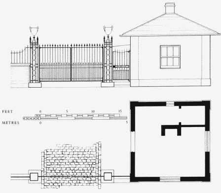 Earl 39 s terrace plan and elevation of western lodge and for Terrace elevation