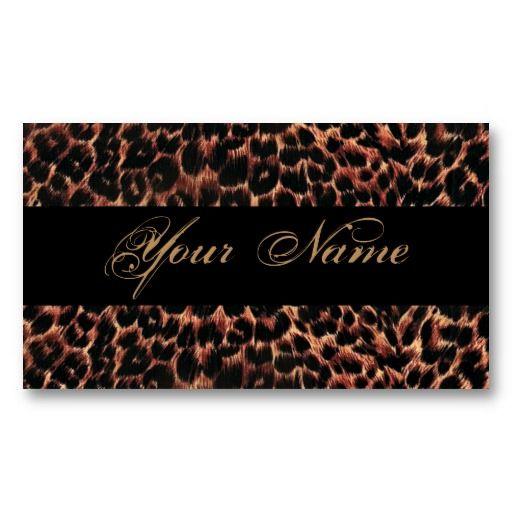 15 best nail salon business cards images on pinterest salon leopard print elegance business card reheart Images