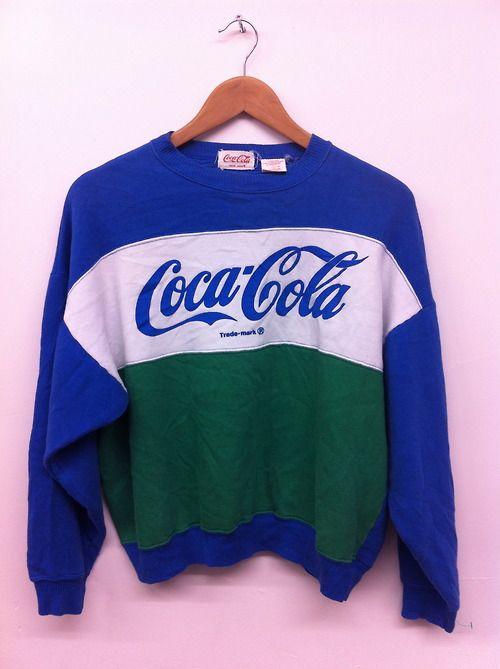 Coca Cola Sweatshirt || I wanted one of these soooo badly in elementary school.