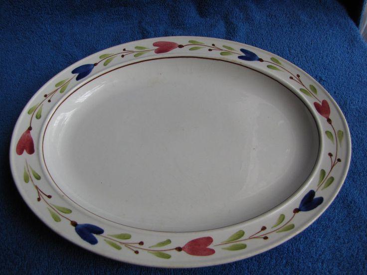 Antique Sweden Gustavsberg Stig Lindberg Ranka Large BIG plate dish 11 Inches #Gustavsberg #StigLindberg