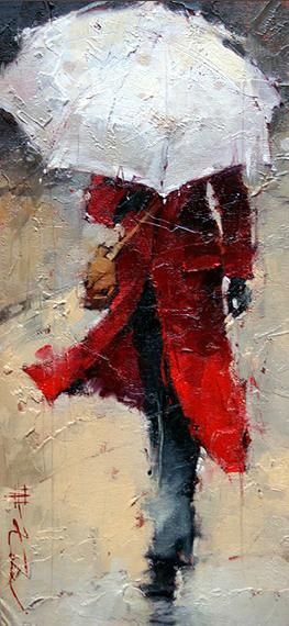 Andre Kohn - love the pictures with the umbrellas...especially this one with the red coat...temporary shelter