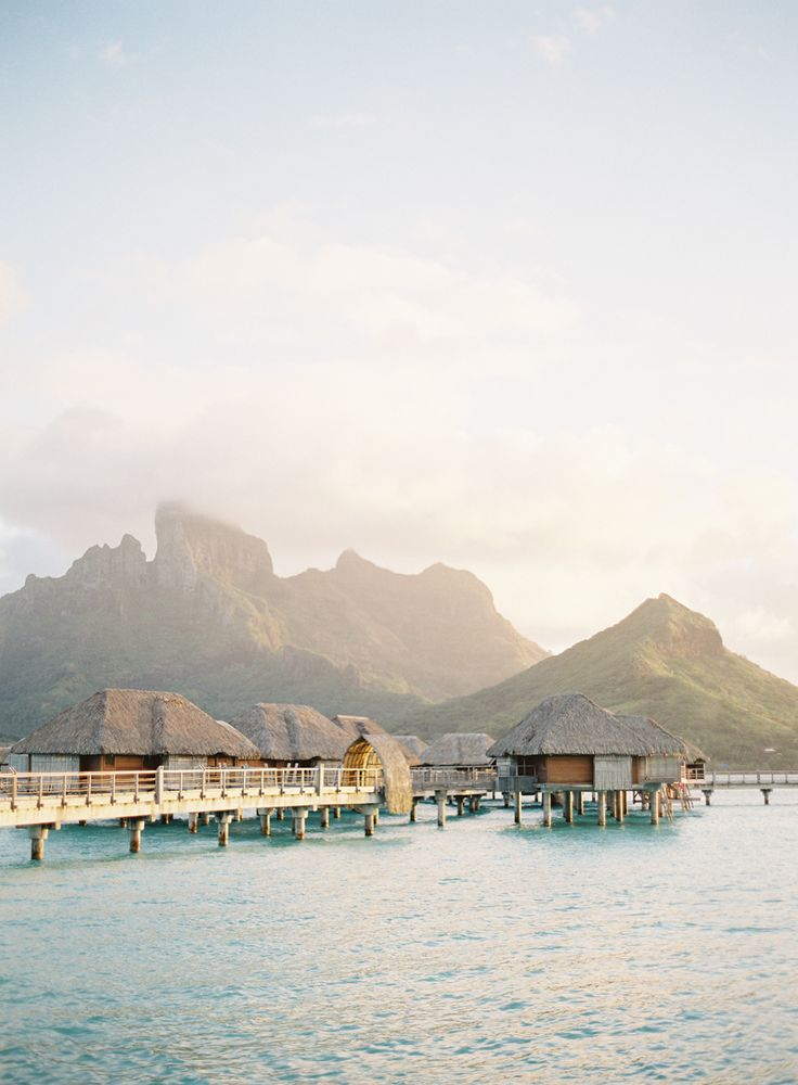 boro bora honeymoon inspiration | jose villa photography | image via: style me pretty