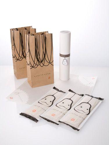4/5 - 'Kanpyo Udon' – Paper bag (designed by Nosigner) #japanese #package #design