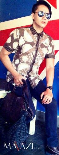 Mavazi outfit - summer menswear Javanese Batik mixed African pattern