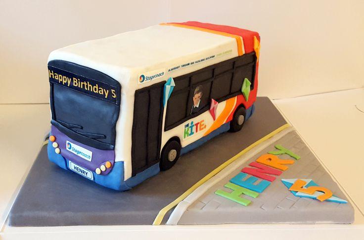 Stagecoach Bus Birthday Cake
