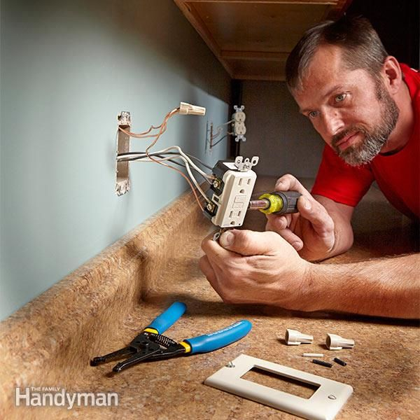 How to Install Electrical Outlets in the Kitchen | The Family Handyman