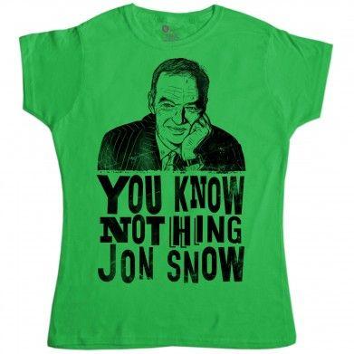 Jon Snow Womens T Shirt - Jon Snow #gameofthrones at 8Ball.co.uk …