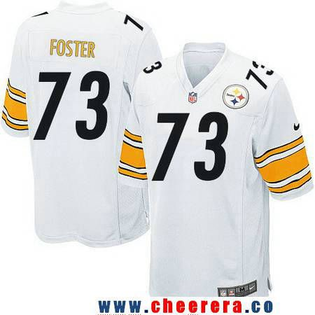 5a649ba177f ... Mens Pittsburgh Steelers 73 Ramon Foster White Road Stitched NFL Nike  Game Jersey ...