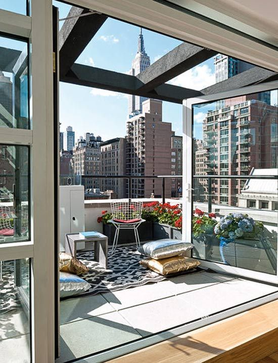 New York apartment with outdoor living space