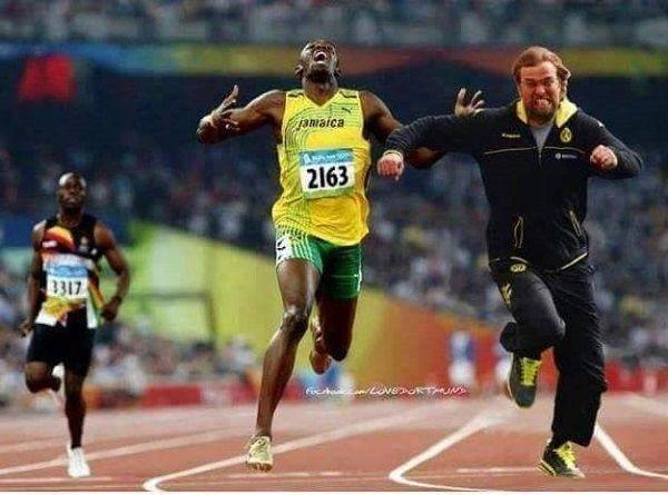 Trener Borussii Dortmund pobiegł szybciej niż Usain Bolt • Jurgen Klopp wyprzedził wszystkich na 100 metrów • Zobacz zabawny mem >> #klopp #bvb #borussia #football #soccer #sports #pilkanozna #funny #memes
