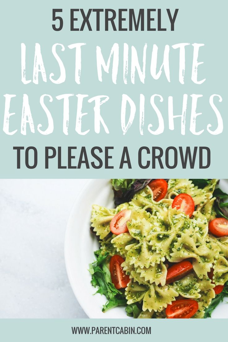 Quick! You've just been given a last minute invite to a friend's Easter dinner and you want to bring a dish to share. Here are a few ideas for last minute Easter dishes you can make using items that you most likely already have in your pantry.