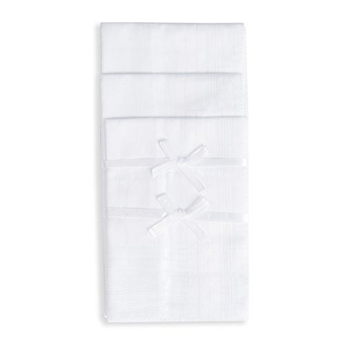 Selected Hanky Pure Cotton Men's Handkerchiefs with Hem White 12 Pieces for Father's Day Gift  Wondefully Crafted from 100% Premium 60S Cotton - not like most handkerchiefs in the market of 30s or 40s, the 60S cotton makes the hankies naturally soft. Not too thick, not too thin. 60S Cotton is the perfect handkerchief material.  Size of 16'' x 16'' Each - Perfect size fit for any occasions. The first time you wash them, they will shrink a bit, but only on the first wash.  Care Instructi...