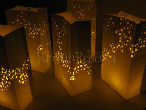 20 Luminary Star Galaxy Bag Kits for Wedding Party Decor