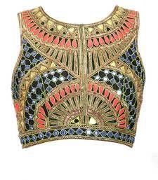 Buy multicolor dupion_silk blouse crop-top online