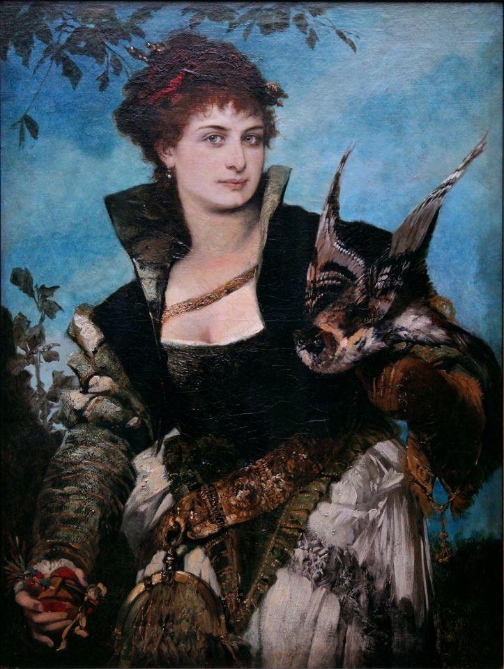 Hans Makart, Die Falknerin,1880.