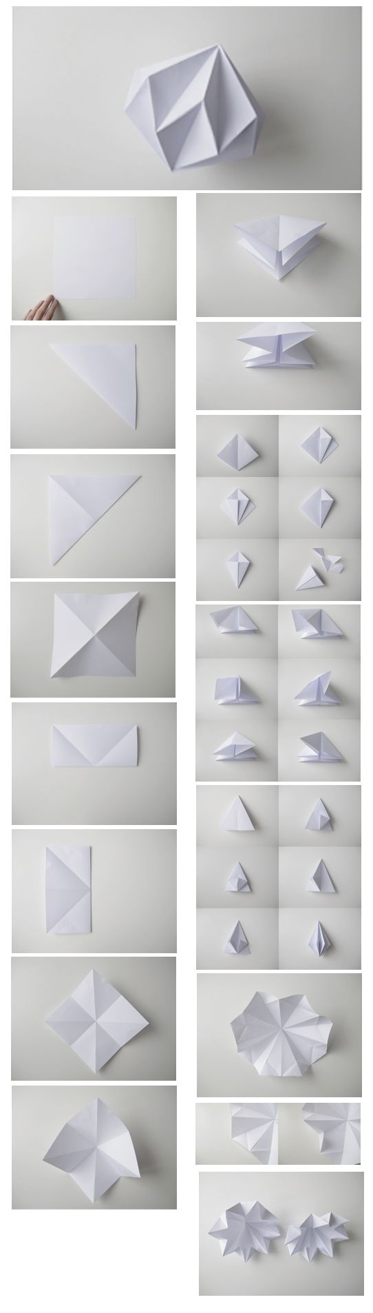 DIY Origami Diamond Step-by-Step Tutorial